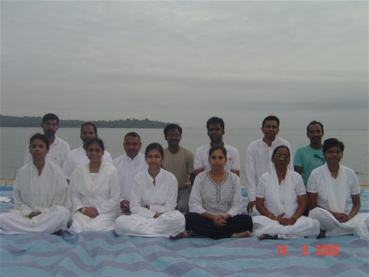 2-Outdoor Meditation at Changi Beach